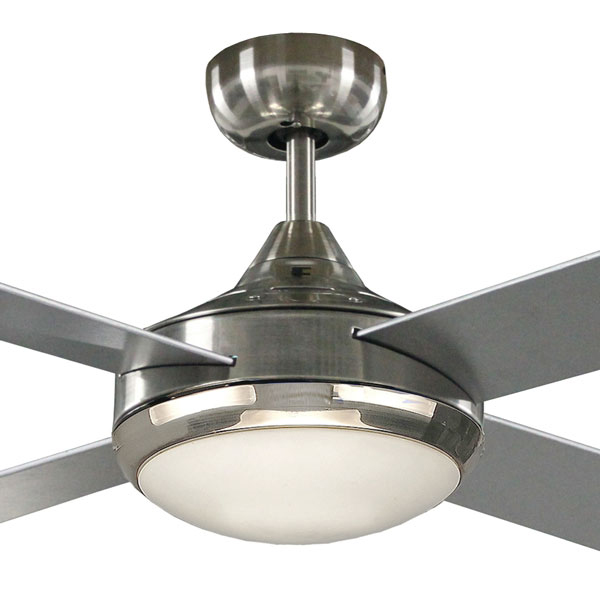 Martec Primo Ceiling Fan And Light In Brushed Nickel 48