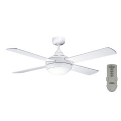 Primo White ceiling fan with light