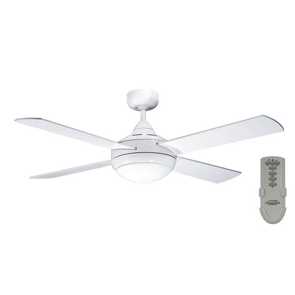 Primo Ceiling Fan With Light And Remote In White 48 Quot Four Seasons