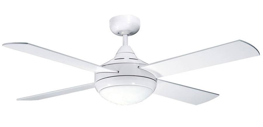 Primo Ceiling Fan With Light and Remote In White 48 Four Seasons