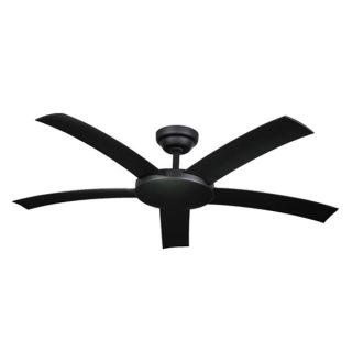 attitude black ceiling fan with remote