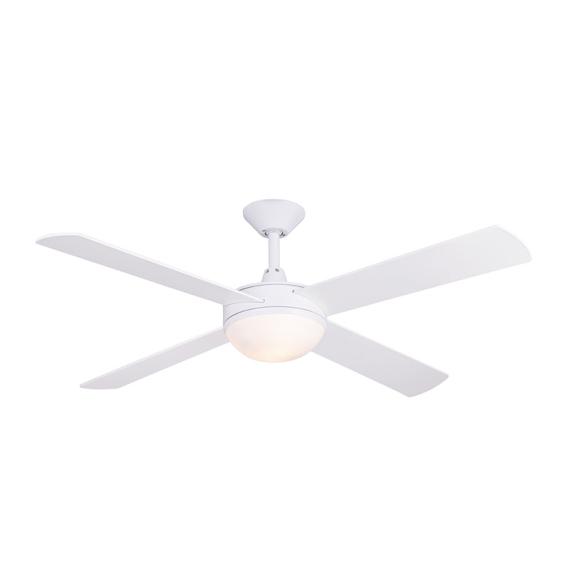 Concept 2 ceiling fan with light white 52 concept 2 ceiling fan aloadofball Images