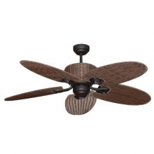 Ceiling Fan By Hamilton With Light Amp Remote Palm Leaf Blades