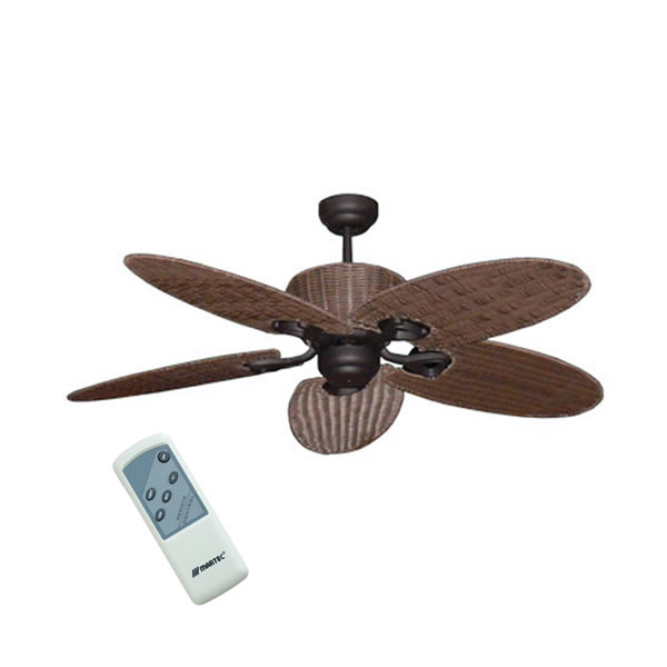 Hamilton Ceiling Fan Old Bronze With Palm Leaf Blades