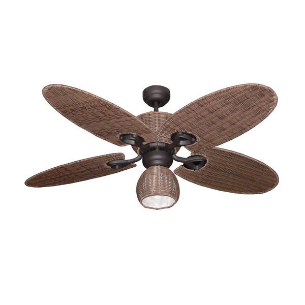 Hamilton Ceiling Fan With Light Old Bronze With Palm