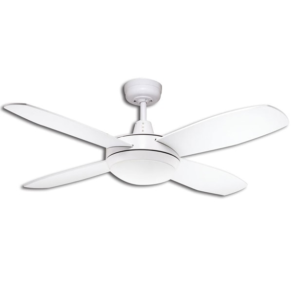 Lifestyle Mini Ceiling Fan With Light In White 42