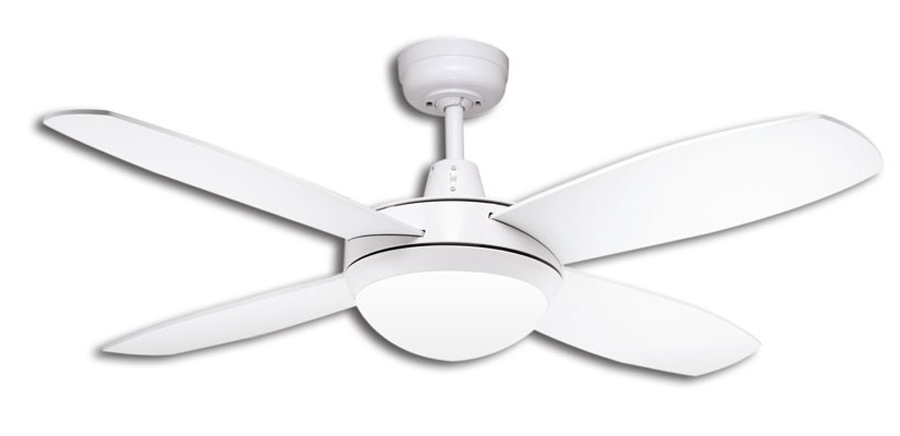 Lifestyle mini ceiling fan with light in white 42 martec small fan oasis image landscape aloadofball Images