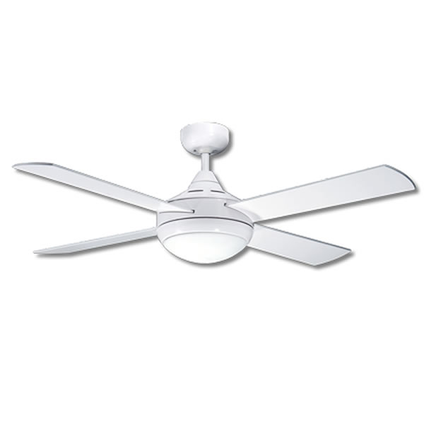Martec primo ceiling fan in white with light 48 primo ceiling fan mozeypictures Choice Image