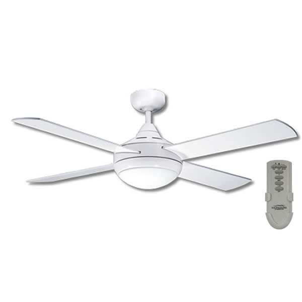 Primo Ceiling Fan With Light And Remote – White 48″ by Martec Four ...