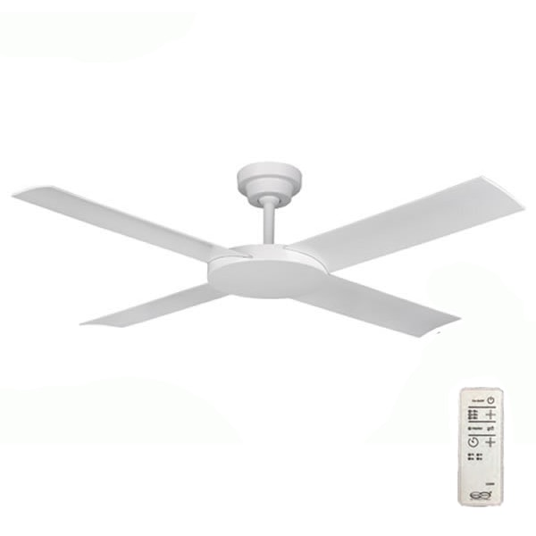 Revolution 2 Ceiling Fan with Remote White Ceiling Fan 52""