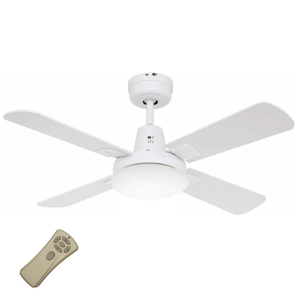 Swift Mini Ceiling Fan with Light and Remote - White 36u0026quot;u0026quot;