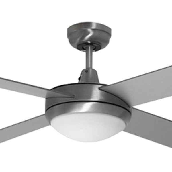 Lifestyle ceiling fan with light martec lifestyle brushed aluminium lifestyle ceiling fan with light by martec aloadofball Choice Image