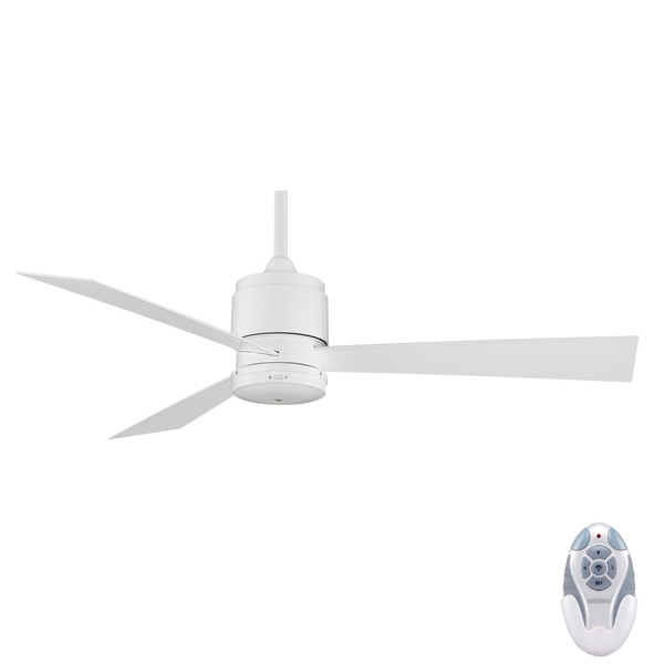 Zonix fan 52 in white by fanimation with remote controller fanimation zonix ceiling fan aloadofball Choice Image