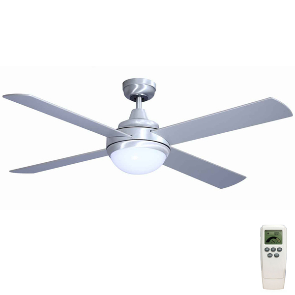 Mercator grange dc ceiling fan w light remote 52 in brushed steel grange dc ceiling fan aloadofball Gallery