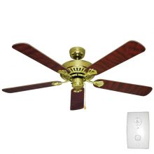 Mercator Hayman Ceiling Fan 52 Quot In Brushed Chrome Traditional