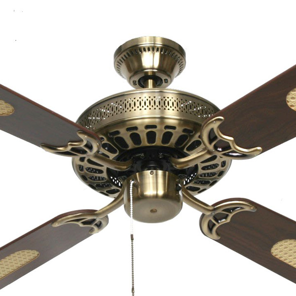 Hunter Pacific Majestic Coolah Ceiling Fan 52u0026quot; in Antique Brass