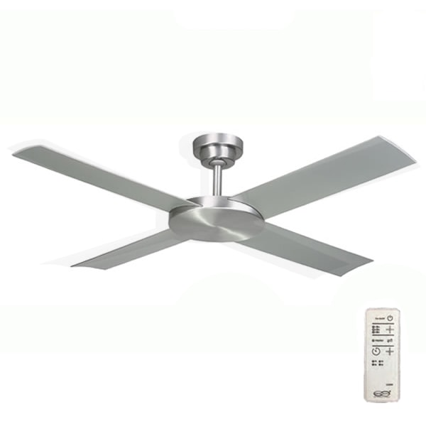 Revolution 2 Ceiling Fan With Remote Brushed Aluminium 52 Quot