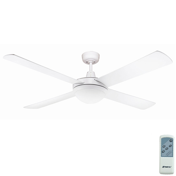 Urban 2 Ceiling Fan with CCT LED Light & Remote by Fanco - White 52