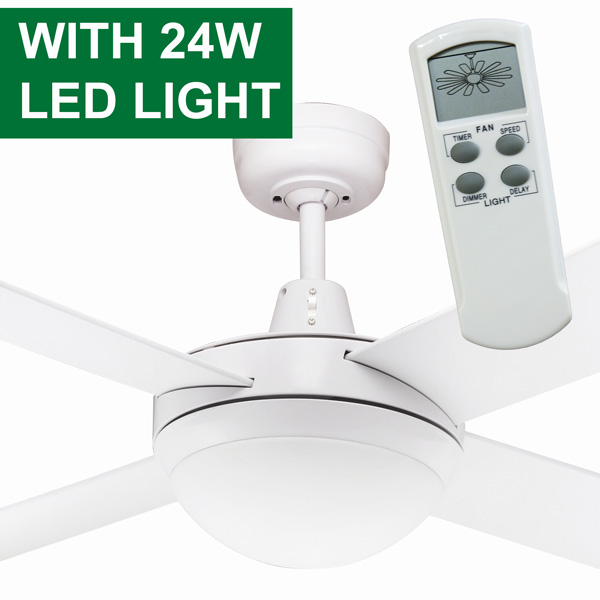 Urban 2 Ceiling Fan With LED Light Amp Remote Control