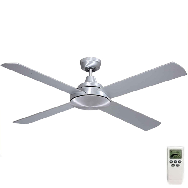 Mercator grange dc ceiling fan w remote 52 in brushed steel grange dc ceiling fan remote by mercator mozeypictures Gallery