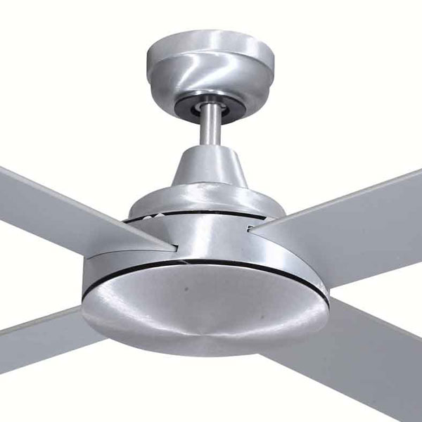 Grange Ceiling Fan By Mercator 52 In Brushed Steel 1 Left