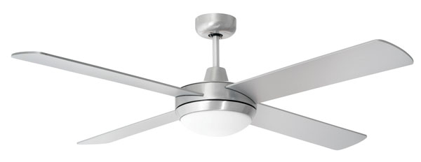 Ceiling Fan Airflow: super tempest brushed chrome with light,Lighting