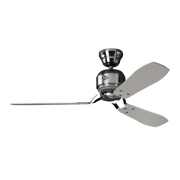 Hunter industrie ii ceiling fan brushed chrome 52 industrie ii ceiling fan aloadofball Images