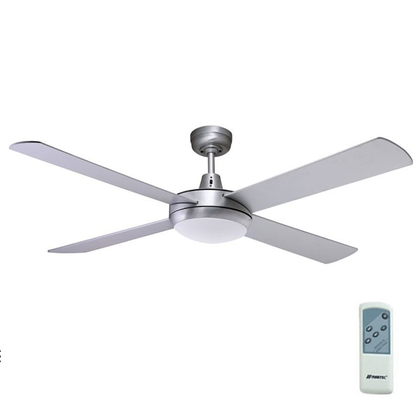Brushed aluminium 52 martec lifestyle ceiling fan with light remote lifestyle ceiling fan aloadofball Choice Image