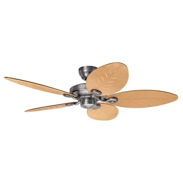 Outdoor Elements Ceiling Fan Raw Aluminium 54 Wall