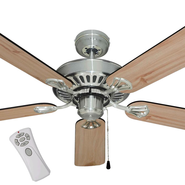 "Mercator Hayman Ceiling Fan With Remote Control 52"" In"