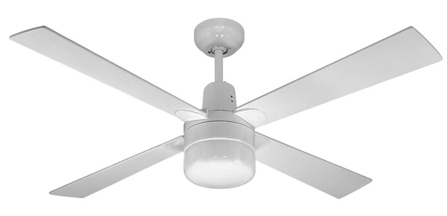 Martec Alpha Ceiling Fan With Light And Remote White