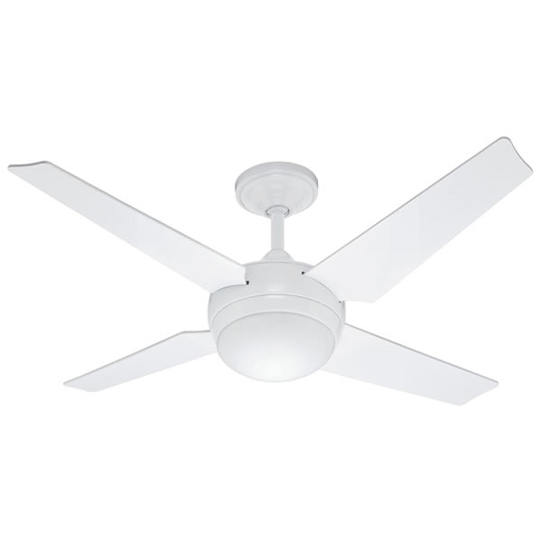 Sonic Ceiling Fan With Light By Hunter U2013 White ...