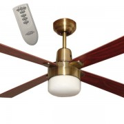 Primo Ceiling Fan With Light And Remote In Brushed Nickel 48 Quot