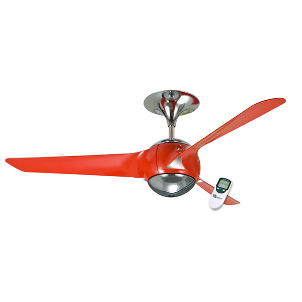 Eon Ceiling Fan In Red Ventair Eon Ceiling Fan With