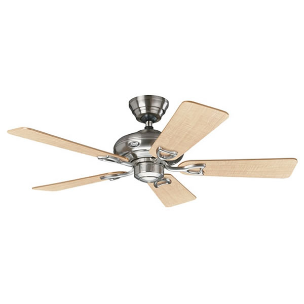Hunter seville ii ceiling fan wwall control brushed nickel 44 seville ii ceiling fan aloadofball Image collections