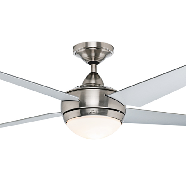Hunter Sonic Ceiling Fan With Light Brushed Nickel
