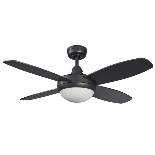 Lifestyle Mini Ceiling Fan With Light In Matt Black 42