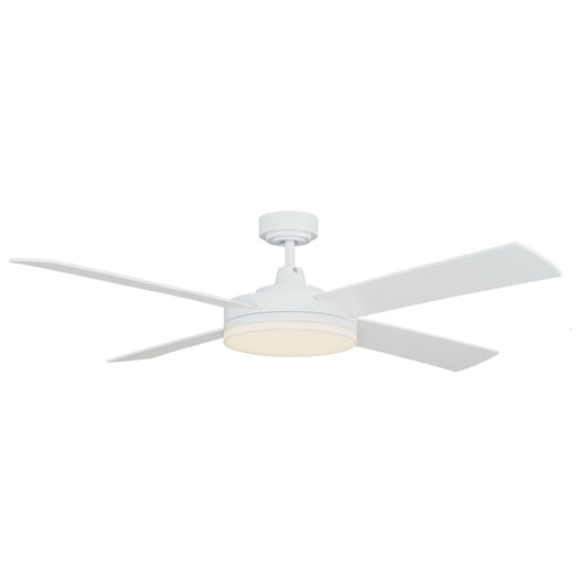 Razor Ceiling Fan With Led Light By Martec White 52 Quot
