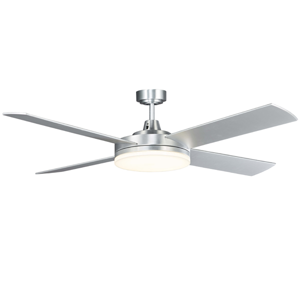 Razor Ceiling Fan With Cool Led Light By Martec Brushed Aluminium