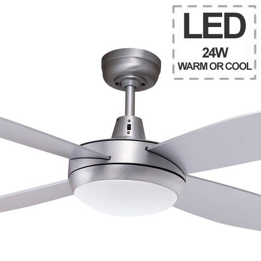 Lifestyle Mini Ceiling Fan With 24w LED Light