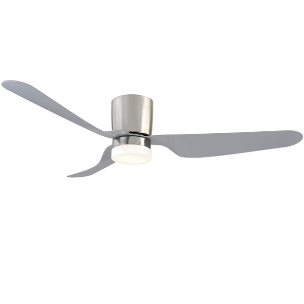 Chrome city dc ceiling fan by mercator with light remote 52 city ceiling fan aloadofball Gallery