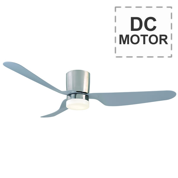 Chrome City Dc Ceiling Fan By Mercator With Light Amp Remote 52 Quot
