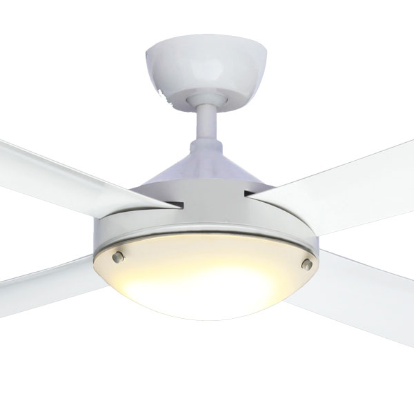 Milano Ceiling Fan White In 48 Quot Led Light High Airflow