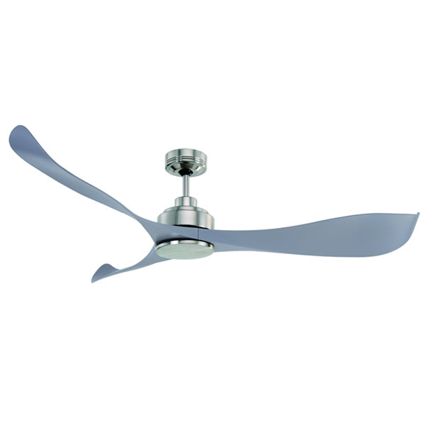 Mercator Eagle Ceiling Fan DC Motor W Remote 55 In Silver