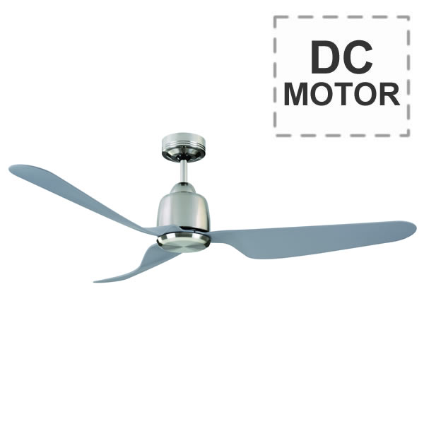 Mercator manly ceiling fan with remote dc motor 52 for Ceiling fan dc motor