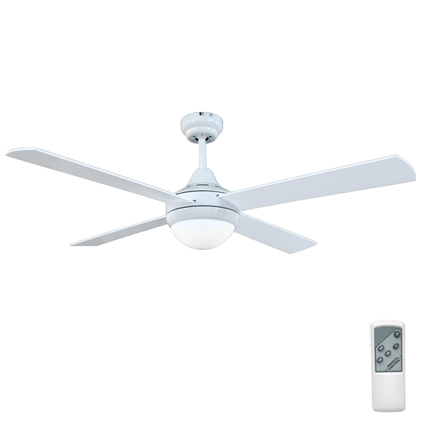 Tempo Ceiling Fan White 48 With Light Amp Remote