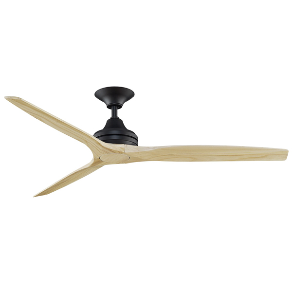 Spitfire Ceiling Fan Black With Natural Blades 60 Quot