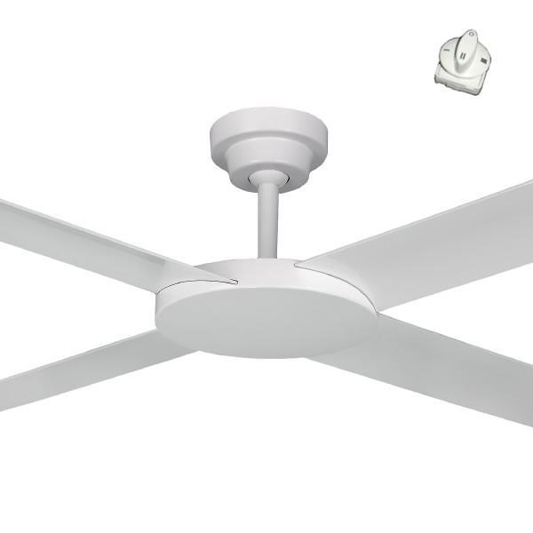 Revolution 2 Ceiling Fan With Wall Control White Fan 52 Quot