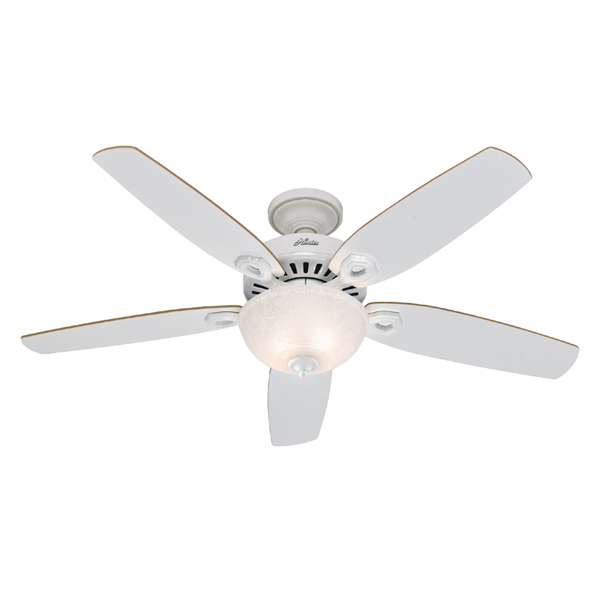 Builder deluxe hunter ceiling fan 52 builder deluxe ceiling fan with light aloadofball Image collections