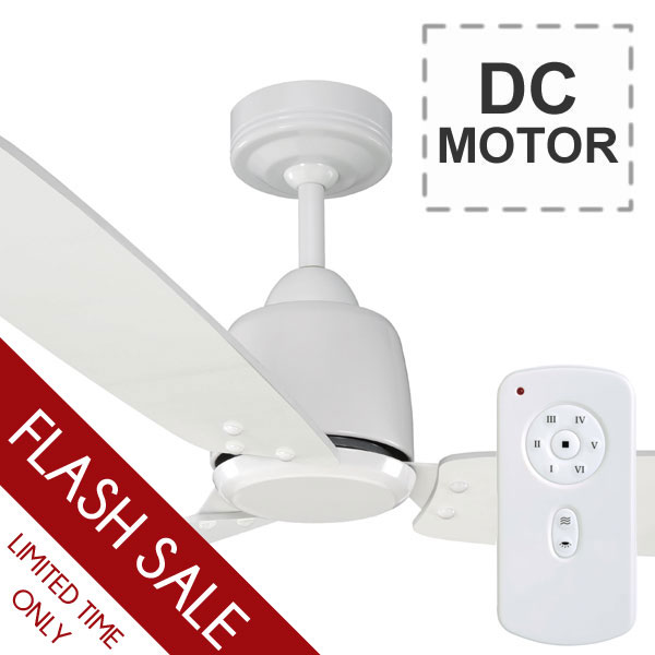 Rio Ceiling Fan Remote Plywood Dc Motor White